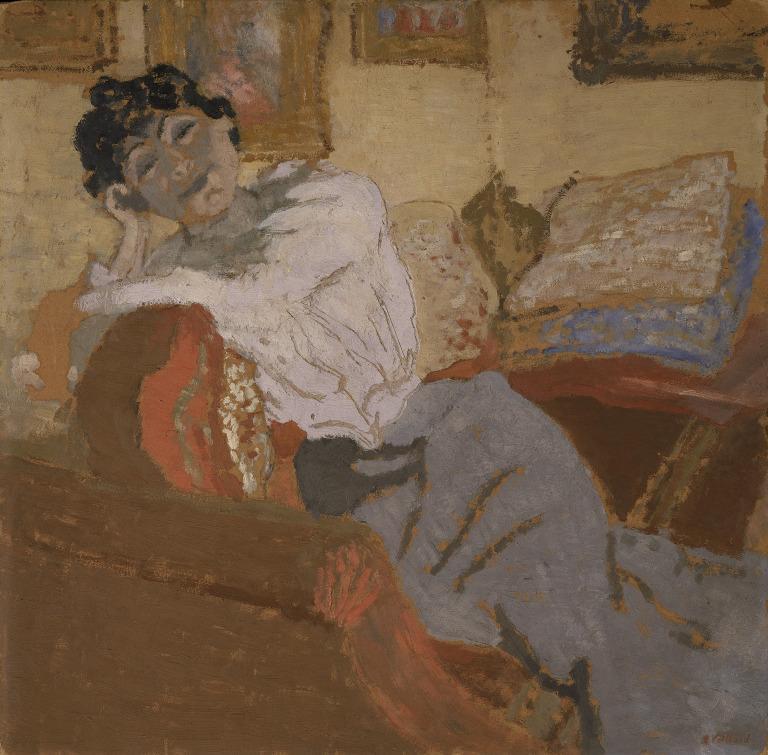 Madame Hessel au Sofa card