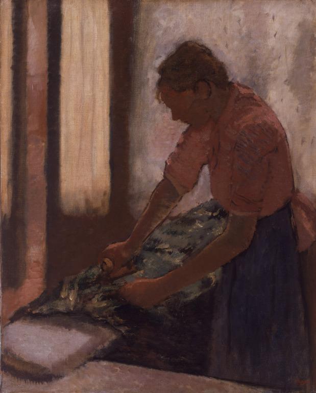 Woman Ironing card