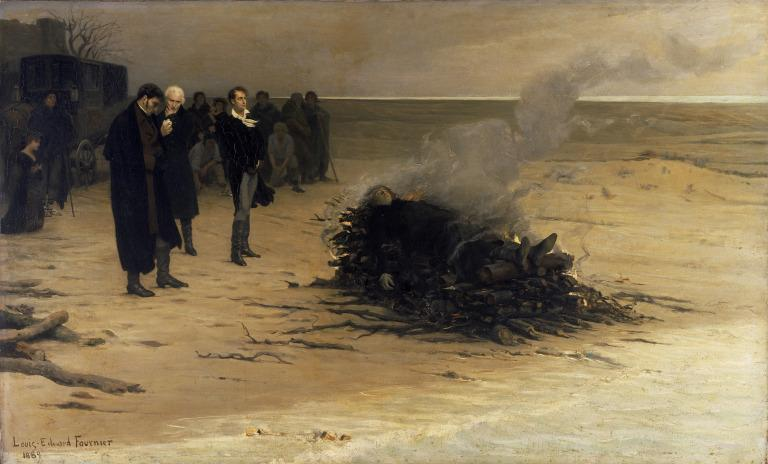 The Funeral of Shelley card