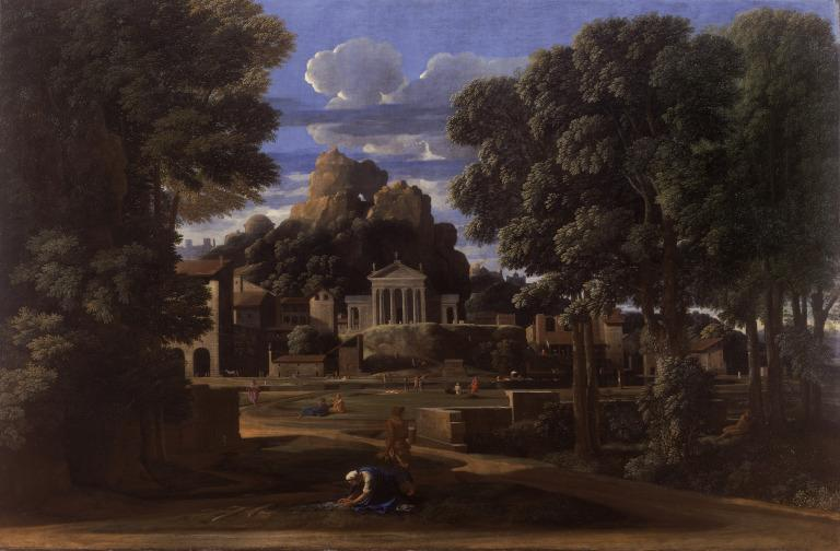 Landscape with the gathering of the Ashes of Phocion card