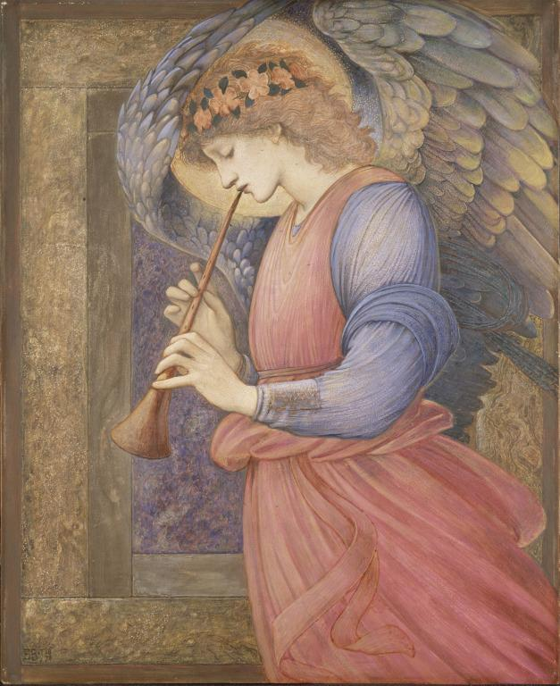 Angel Playing a Flageolet card