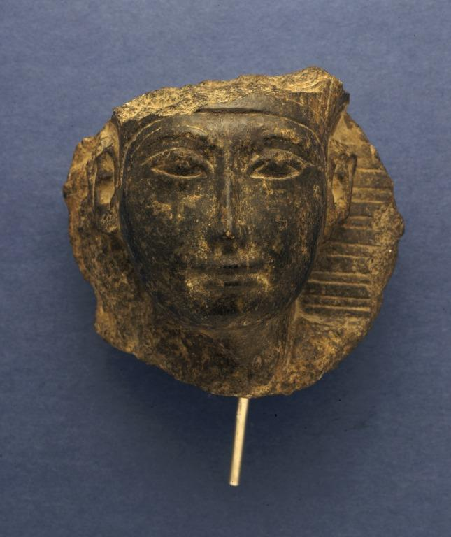 Sculpture of a Pharaoh card