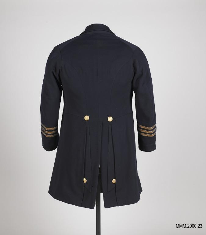 White Star Line Chief Officer's uniform frock coat card