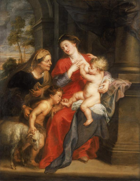 The Virgin and Child with St. Elizabeth and the Child Baptist card