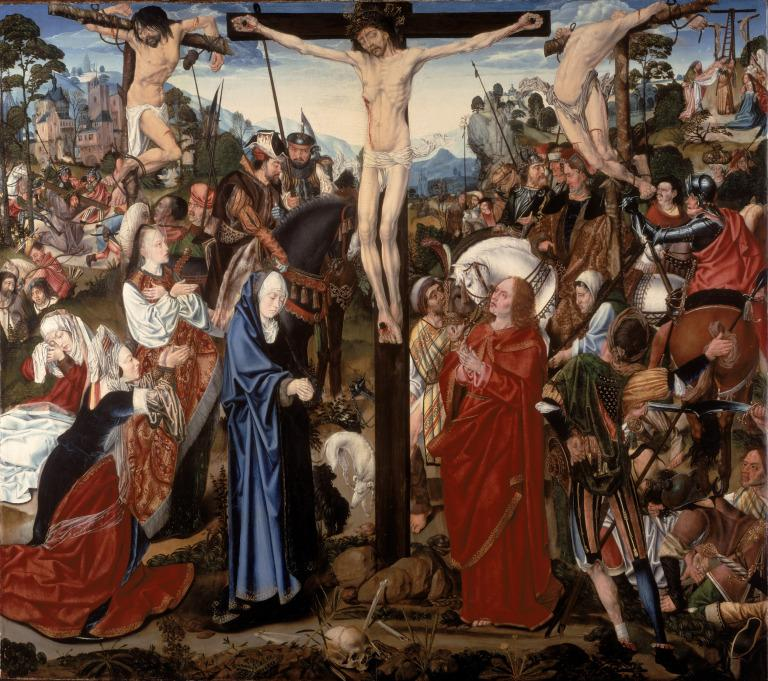 The Crucifixion Altarpiece: The Crucifixion (Central Panel) card