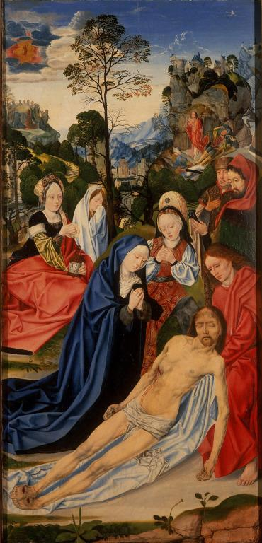 The Crucifixion Altarpiece: Lamentation over the Dead Christ (Front Right Wing) card