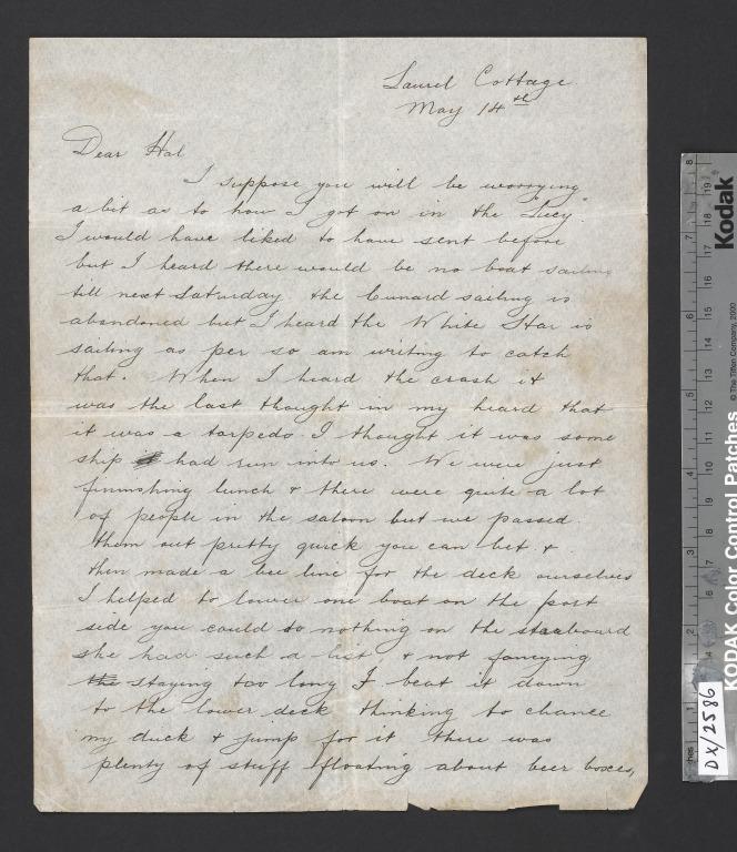 Letter written by Frederick Arthur Russell card