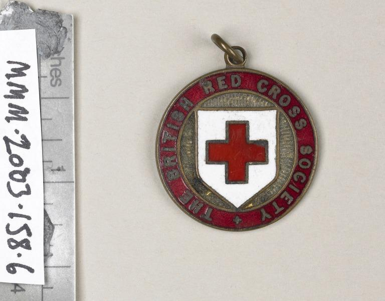 British Red Cross Society medal awarded to Florence Irving card