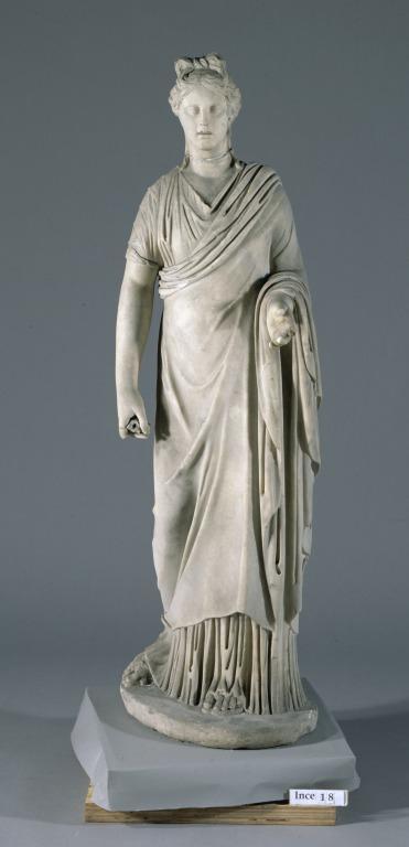 Statuette of Draped Woman card