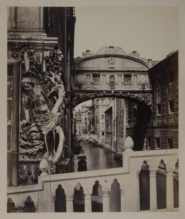 The Bridge of Sighs, Venice, with 'The Drunkenness of Noah' in the Foreground card