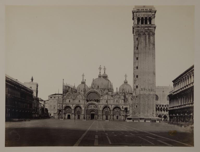 St. Mark's and the Companile, Venice, from St. Mark's Square card