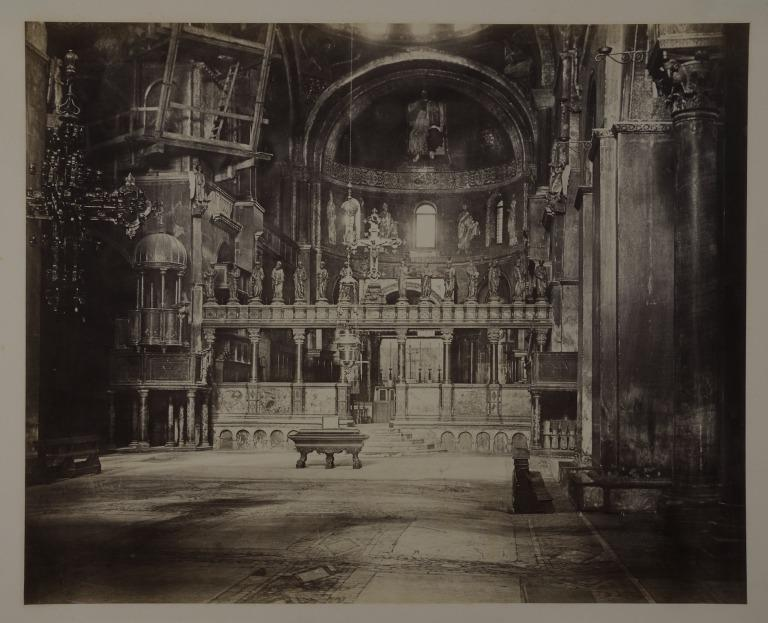 Interior of St. Marks, Venice, Looking East card