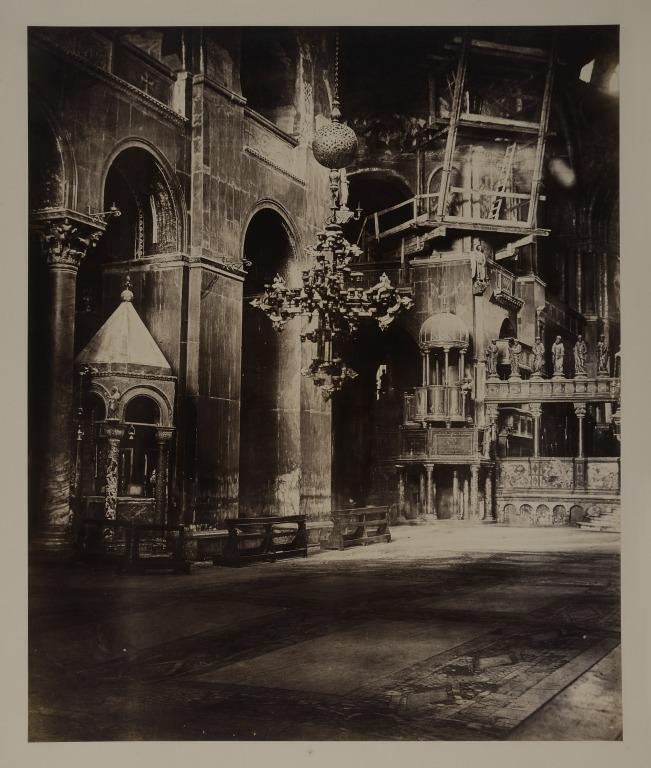Interior of St. Mark's, Venice, Looking Towards the Pulpit card
