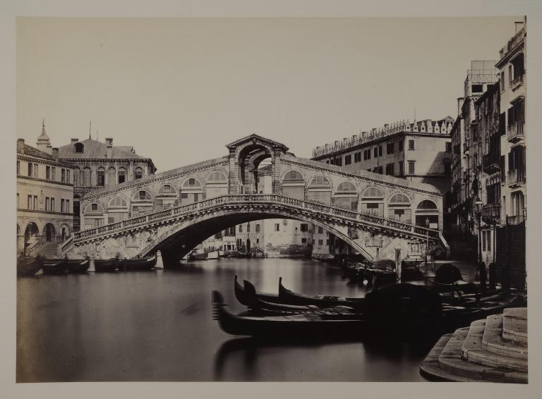 The Rialto Bridge, Venice, with the Fondaco dei Tedeschi Behind card