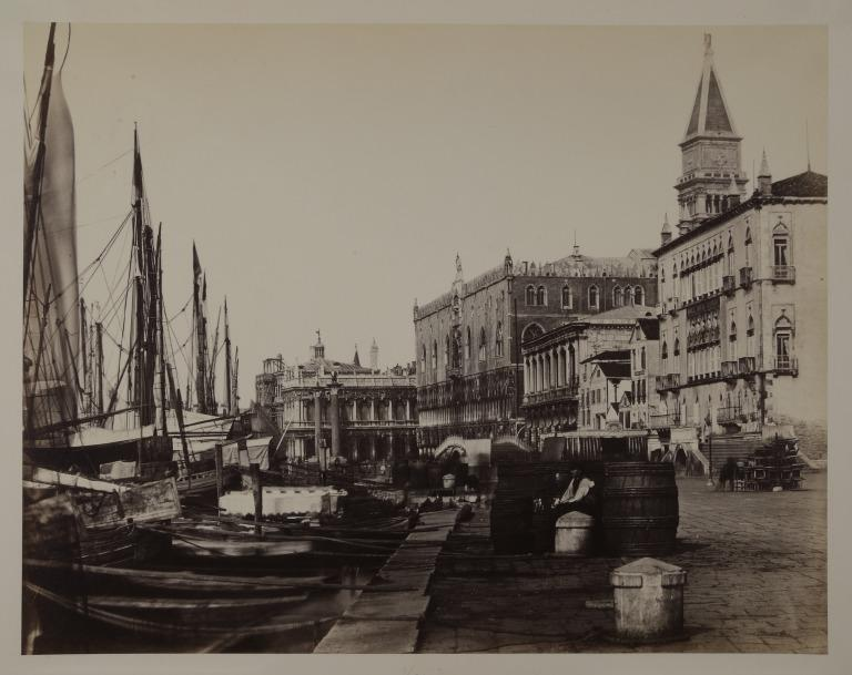 The Riva Degli Schiavoni, Venice, looking towards the Doges Palace card