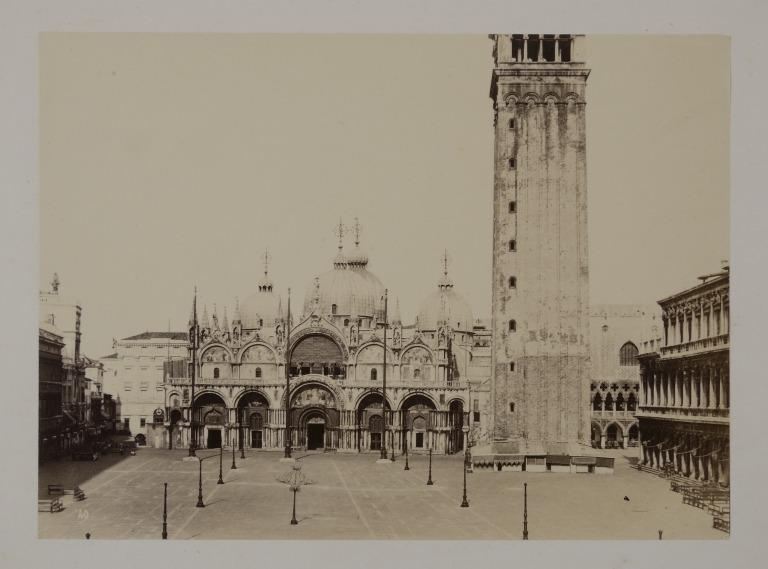 The Campanile and the West Front of St.Mark's, Venice card