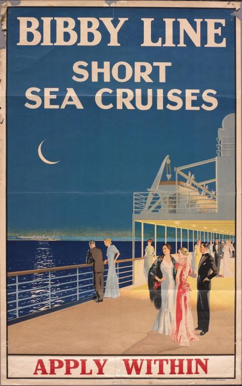 Bibby Line 'Short Sea Cruises' card