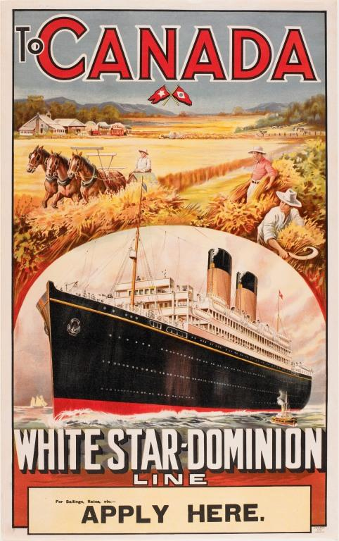 White Star- Dominion Line 'To Canada' card