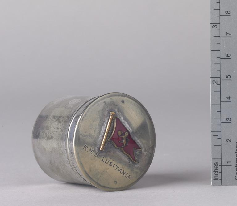 Silver plated snuff box from Lusitania card