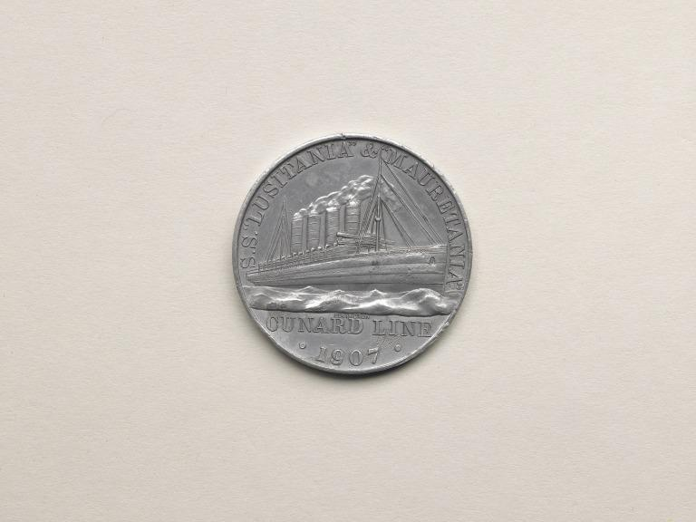 Cunard commemorative medallion card