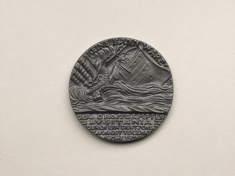 British replica Lusitania medallion card