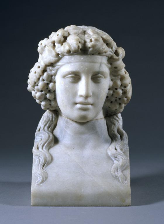 Head of Bacchus card