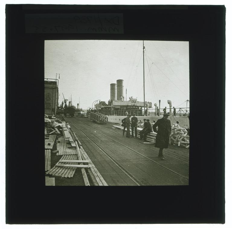 Glass negative slides of Liverpool shipping and street scenes, c.1900-1920. card