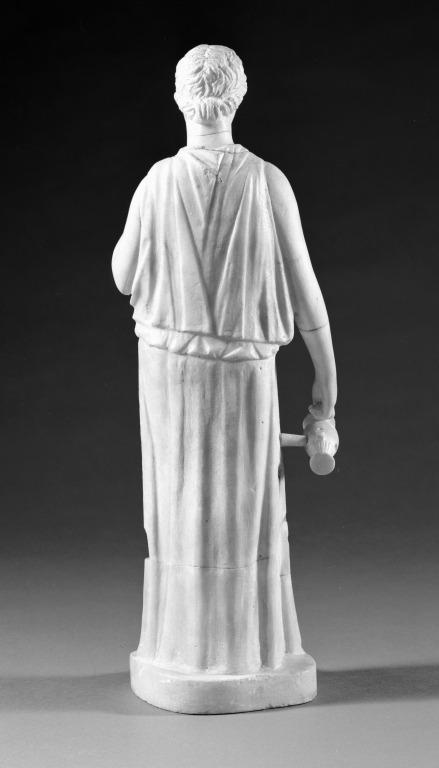 Statuette of a standing woman card
