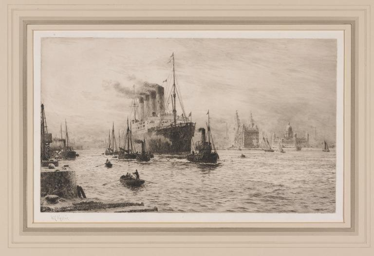 Lusitania in the Mersey card