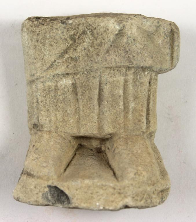 Fragment from a votive statuette card