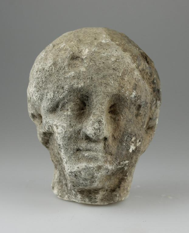 Head of a statuette card