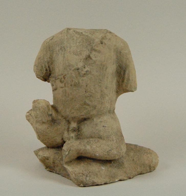 Temple boy statuette card