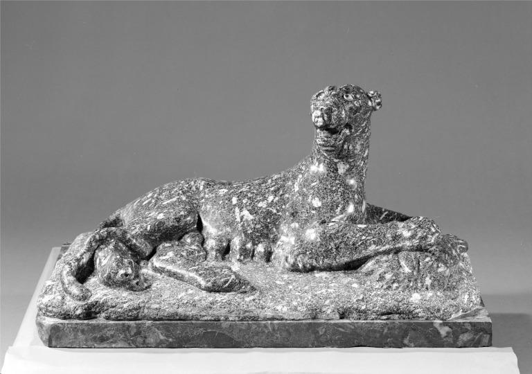Statue of a Leopard card