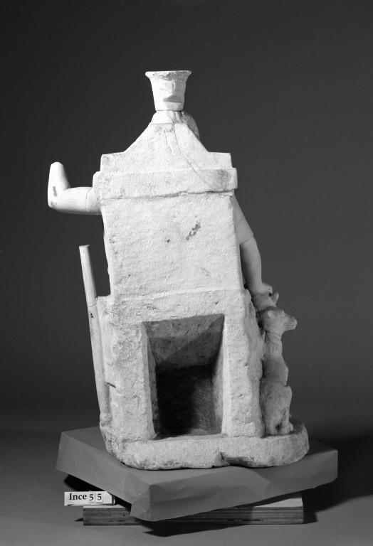 Statue of Serapis with Cerberus card