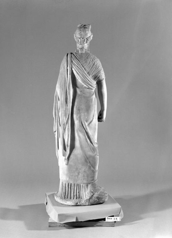 Statuette of Draped Woman card