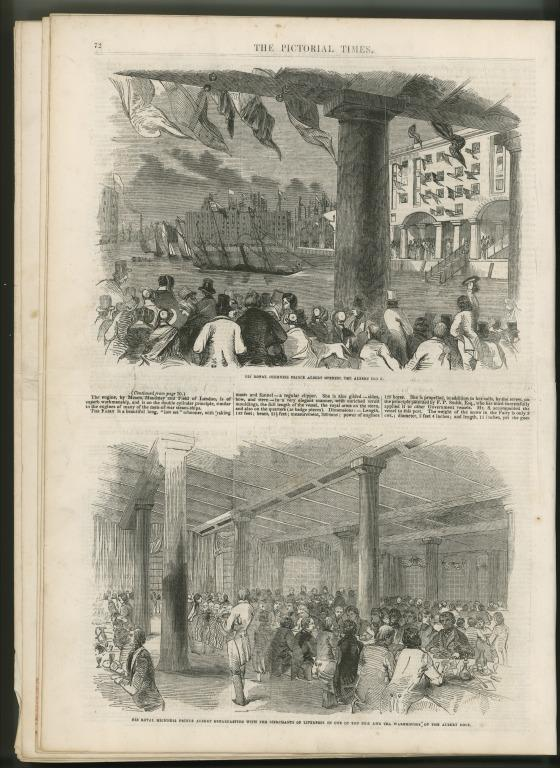 Pictorial Times newspaper re visit of Prince Albert to Liverpool, 1846 card