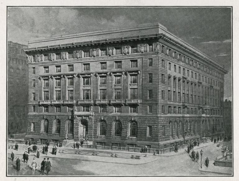 Items re the Cunard Building, Liverpool. card