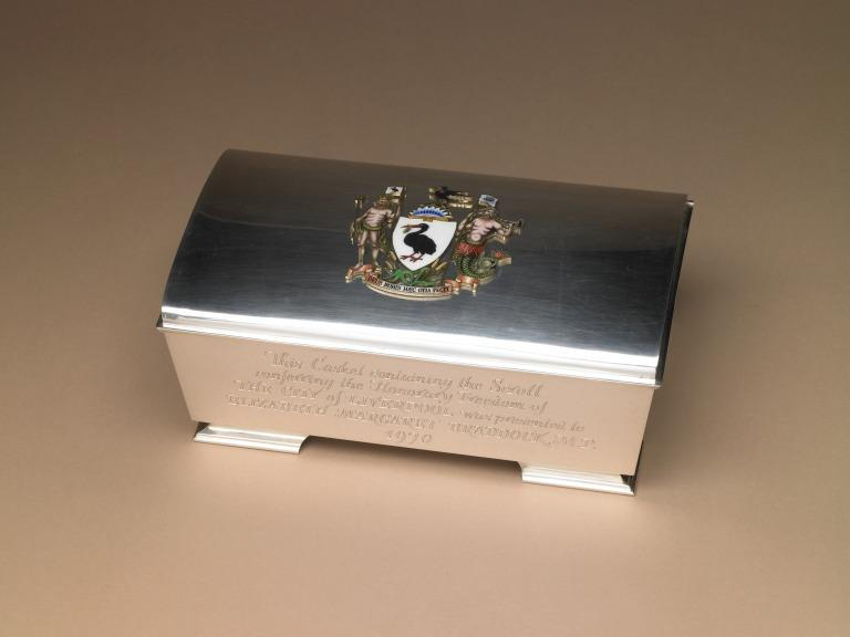Freedom of the City casket card