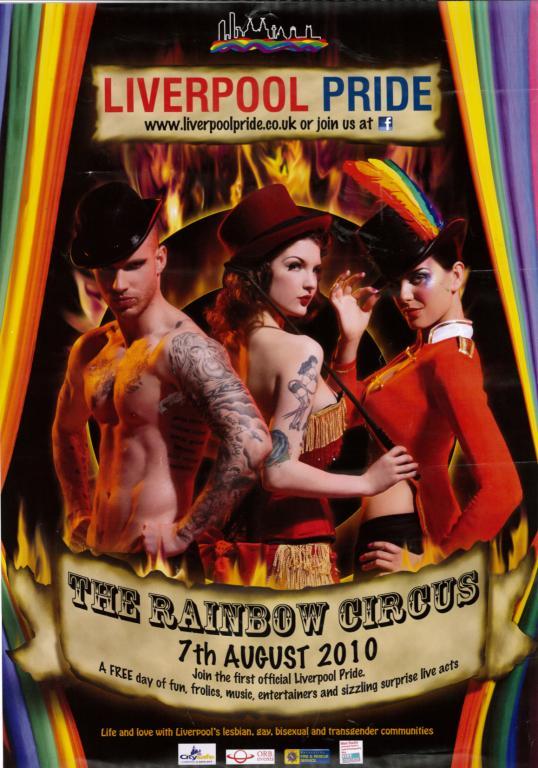 Poster, 'Liverpool Pride 2010' card