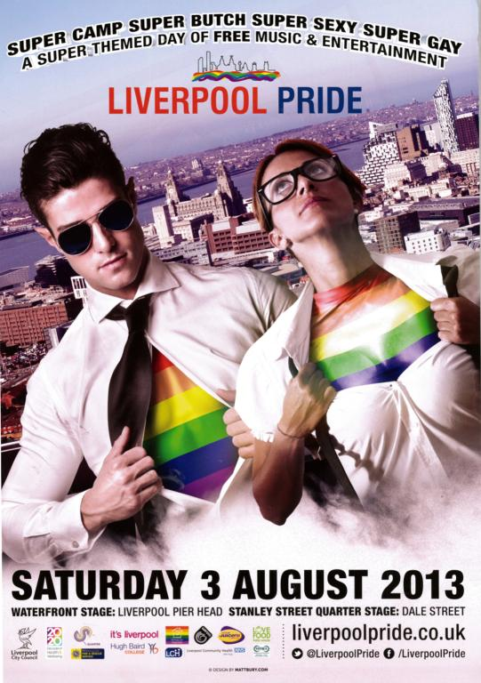 Poster, 'Liverpool Pride 2013' card