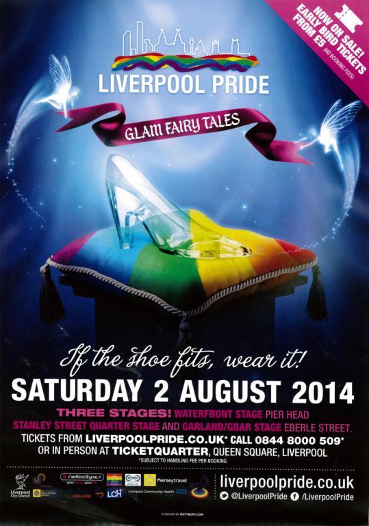 Poster, 'Liverpool Pride 2014' card