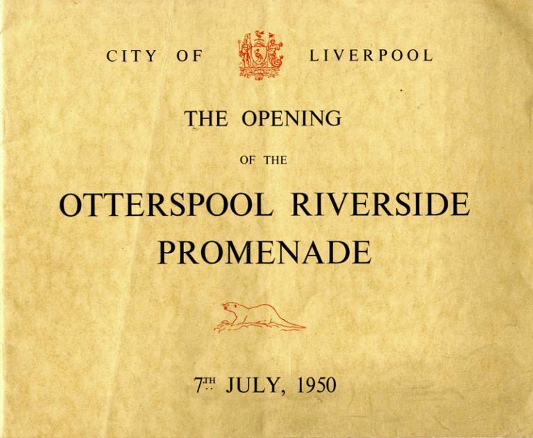 Booklet, 'Otterspool Riverside Promenade, 1950' card