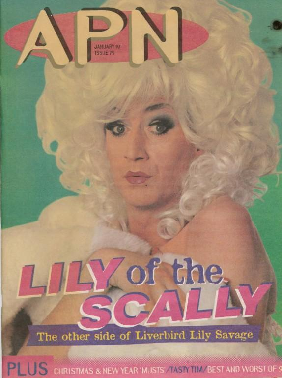 APN Magazine,  'Lily of the Scally. The other side of Liverbird Lily Savage' card
