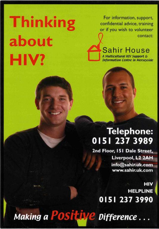 Poster, 'Thinking about HIV?' card