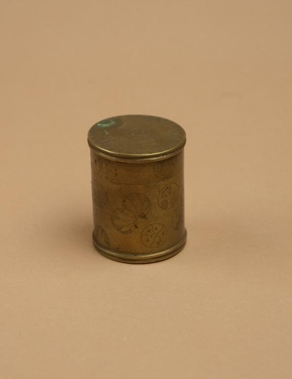 Container; Container / Small Brass Canister card
