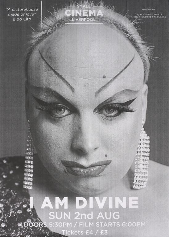 Poster, 'I Am Divine' card