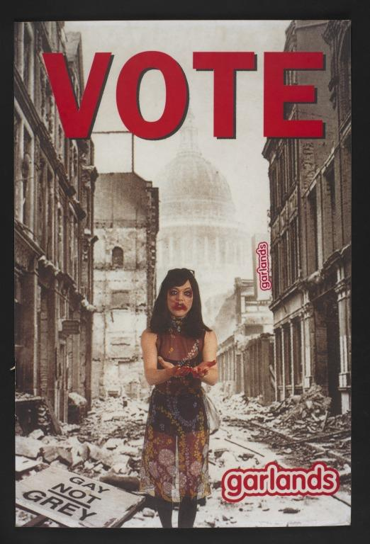 Placard, 'Vote' card