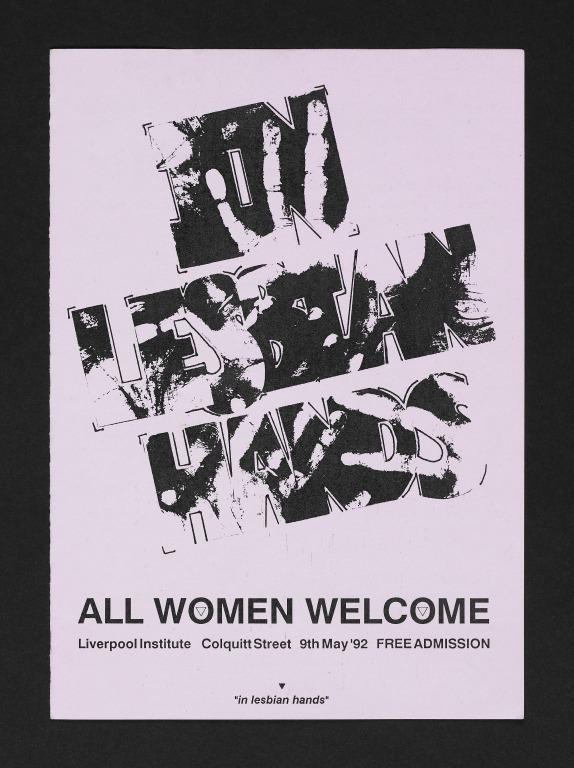 Leaflet, 'In Lesbian Hands, 1992' card