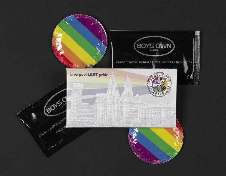 Condom Pack, Liverpool LGBT Pride card