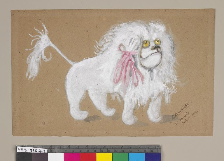 Sketch of 'Fido' the toy lion card